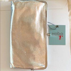 Brand New HOBO Wallet in Silver Metallic